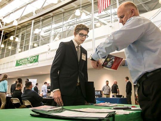 Mechanical Engineering sophomore Daniel Longenecker,
