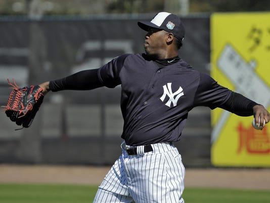 Yankees Chapman Suspended Baseball