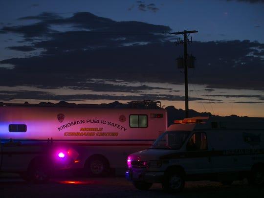 A Kingman Public Safety Mobile Command Center sits