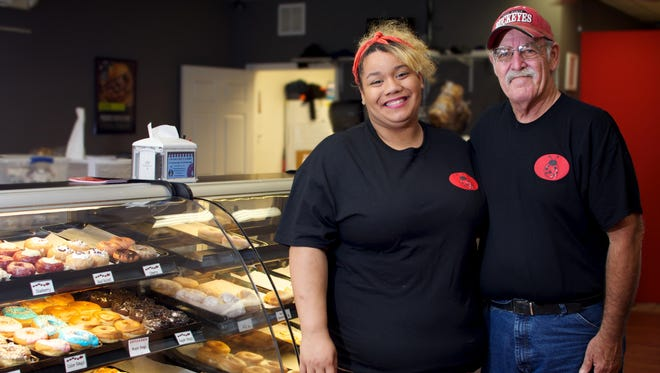 Hallie Hendrix, left, is general bakery manager, and James Adkins is production and logistics manager for Love Bugs Bakeries.