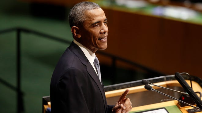 President Obama addresses the United Nations General Assembly at U.N. headquarters in New York on Sept. 24.