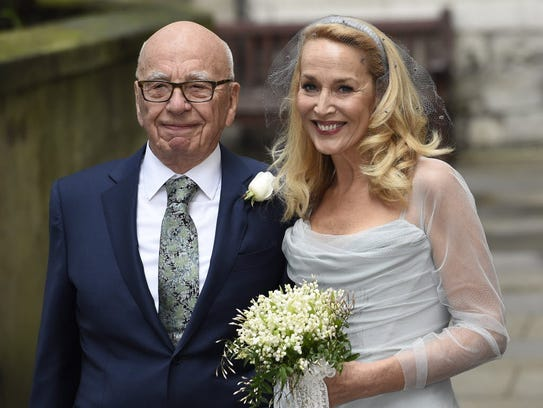 Rupert Murdoch and his new wife, onetime supermodel