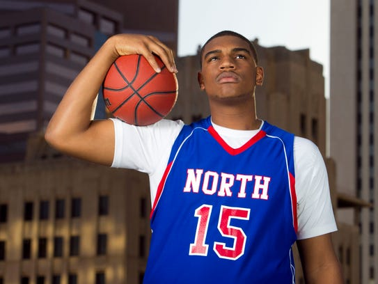 Alan Williams, a senior at North High, poses for azcentral