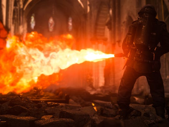 A screenshot from the video game 'Call of Duty: WWII,'