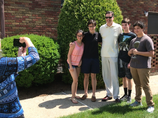 After mass at the Church of the Guardian Angel in Allendale,