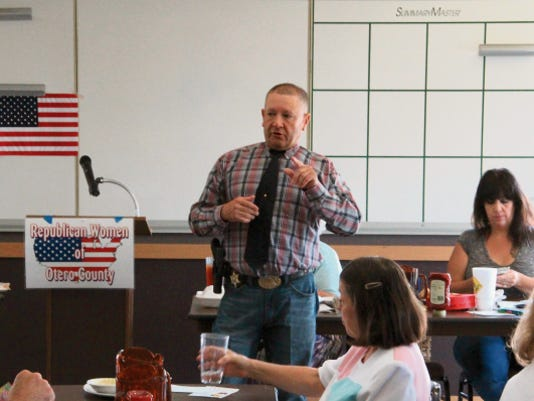 Otero County Sheriff Benny House was the guest speaker at Republican Women of Otero County's monthly luncheon.
