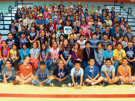 Courtesy Photo   Deming elementary schools held a district-wide Math Olympiad on May 14, at Columbus Elementary School. The first-ever event was born of the Columbus Math Committee's annual in-school competition held over the past 10 years. The district organizers hope to make the district-wide Math Olympiad an annual competition.
