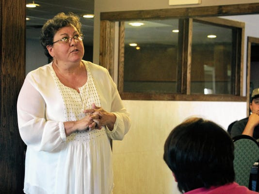 Alamogordo Public Schools Superintendant Adrianne Salas was the guest speaker at the Otero County Tea Party's monthly meeting Saturday.
