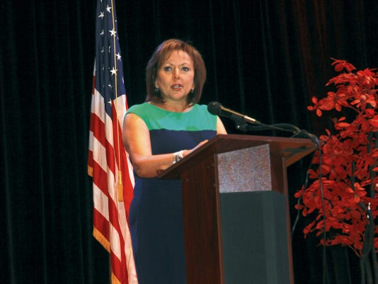 Gov. Susana Martinez announced a new energy plan on Monday at the Mayor's Oil and Gas Summit.