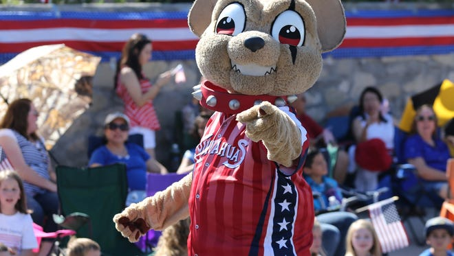 Chico greeted parade spectators Monday.