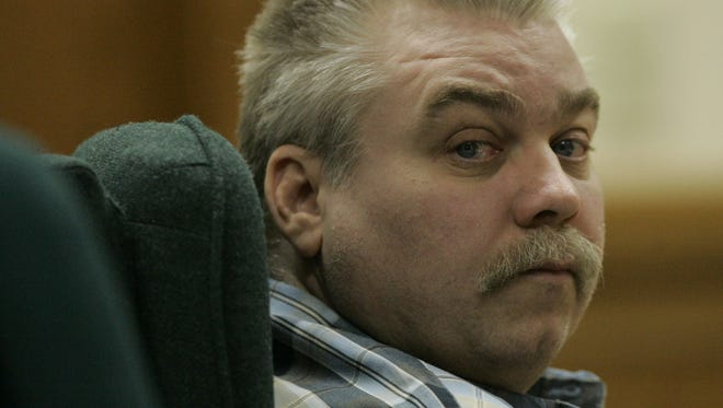 Steven Avery listens to testimony in the courtroom on March 13, 2007 at the Calumet County Courthouse in Chilton.