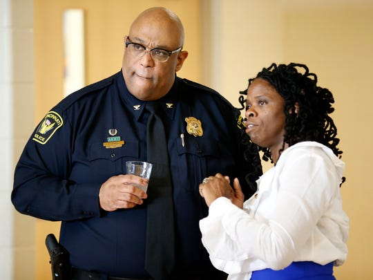 Cincinnati Police Chief Eliot Isaac talks with community