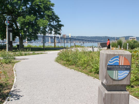 A section of the Scenic Hudson RiverWalk Park at Tarrytown