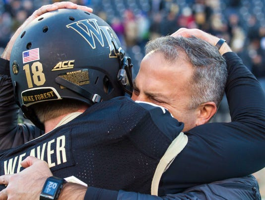 NCAA Football: Virginia Tech at Wake Forest
