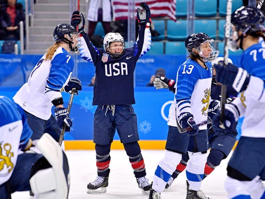 Olympics: Ice Hockey-Women Team Semifinal - USA-FIN