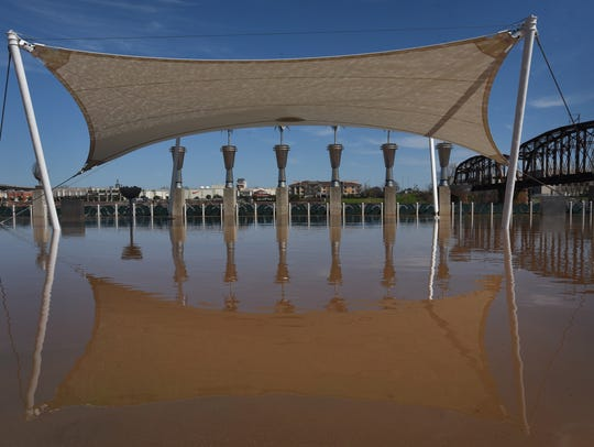 High water from the Red River floods Shreveport's RiverView