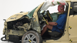 Chevrolet Spark shows a lot of damage, but the  passenger was better protected than the other cars in the test