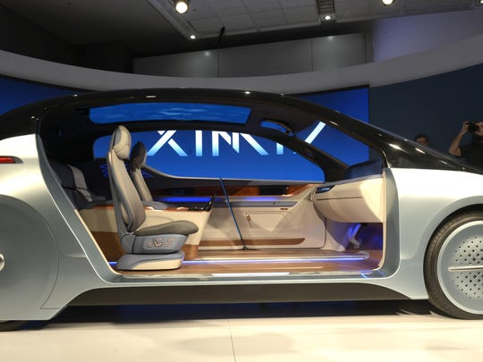 Yanfeng's Experience in Motion (XiM17) concept vehicle showcased how car seats might be able to be rearranged once the vehicle doesn't need a human driver.