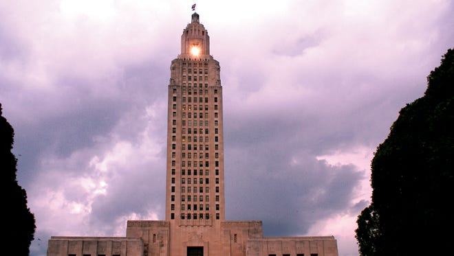 Louisiana's skyscraper-style capitol in Baton Rouge. Gay rights groups in the state contend police have used anti-sodomy laws to target gay men.
