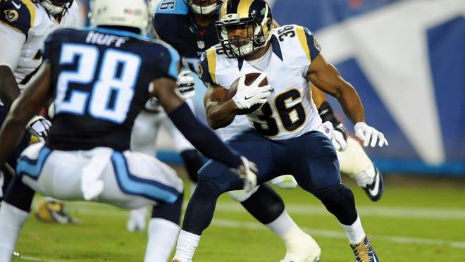 Los Angeles Rams running back Benjamin Cunningham (36) will speak in Nashville on Saturday.