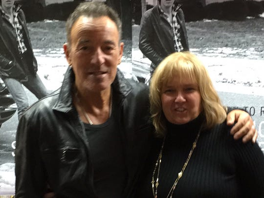 Bruce Springsteen with Cathy Schulte