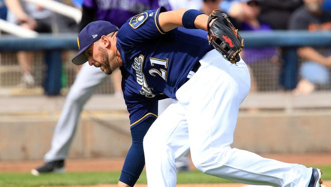 The Brewers are counting on newcomer Travis Shaw to be a solid contributor at third base.