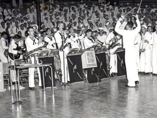 The USS Arizona band was on the deck of the battleship