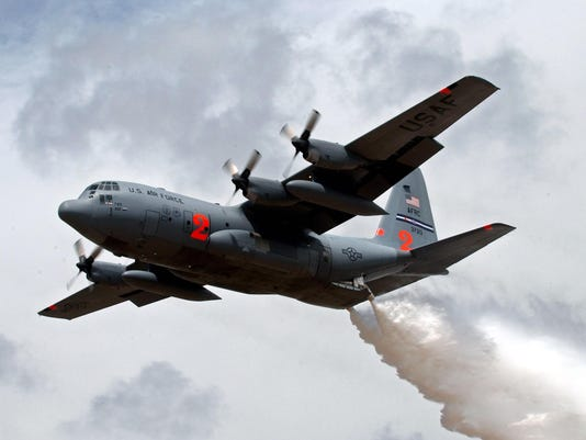 Reserve C-130s helping fight California fires