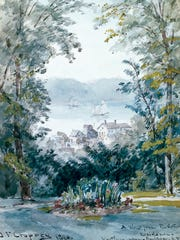 """Jasper Cropsey's """"View from the Artist's Residence,"""