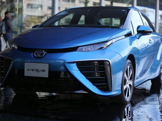 toyota s fuel cell vehicle fcv mirai was unveiled in tokyo in november
