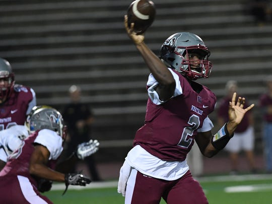 Westside sophomore quarterback Shedrick Smith (2) passes