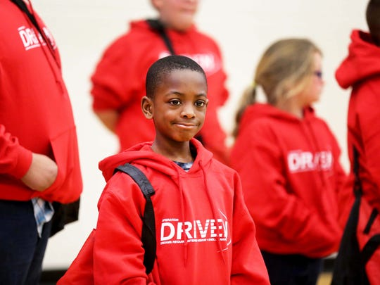 Delamontey Andrews, a third grader at Oyler Community Learning Center, is one of 60 students who will take part in Operation Driven, a weekly mentoring, wellness and nutrition program.
