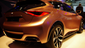 Infiniti's Q30Concept,which it says is a fusion of a coupe, a hatchback and a crossover SUV on display at the Frankfurt Motor Show. The Q30 is the product of a collaboration with Mercedes-Benz that also produced the new M-B GLA, also on display at Frankfurt.