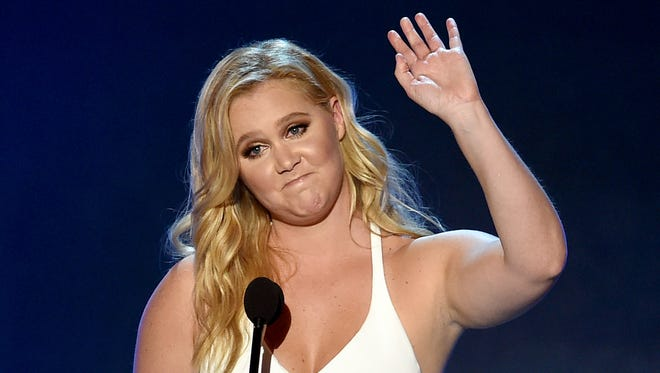 Amy Schumer accepts the Critics' Choice MVP Award in January.