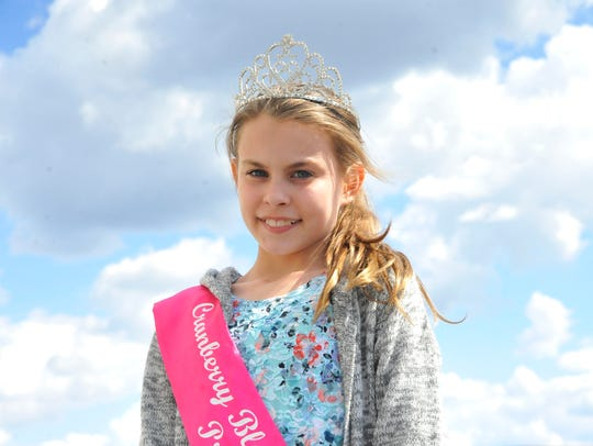 Mia Cassiani, 11, is the 2016 Cranberry Blossom Festival