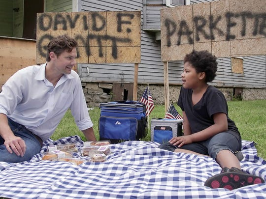 Democrat and Chronicle columnist David Andreatta has a picnic lunch with Quanashia Martinez at a home once owned by David Gantt.
