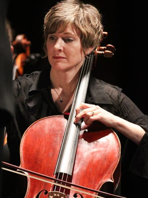 Cellist Laura Kenney Henckel performs with the Fox Valley Symphony.