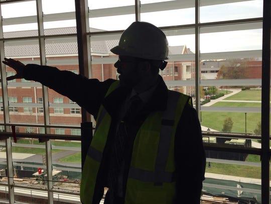 Eric Berkheimer, an associate vice president over facilities