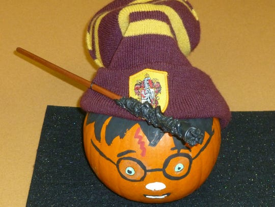 Ava Gallagher's Harry Potter pumpkin took top honors