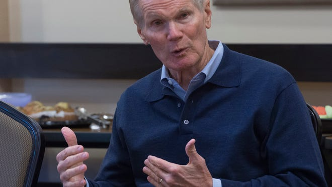 Senator Bill Nelson visits Pensacola Monday morning, Nov. 23, to update local residents and governmental leaders on a variety of topics coming out of Washington D.C. including the RESTORE Act, the highway funding bill, as well as giving a update on the federal courthouse.
