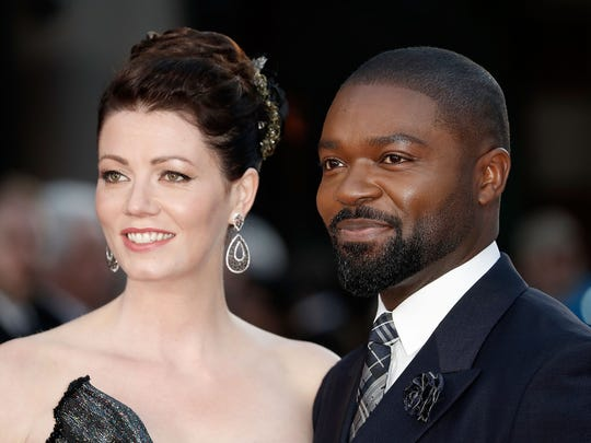 David Oyelowo and his wife, Jessica, attend a screening
