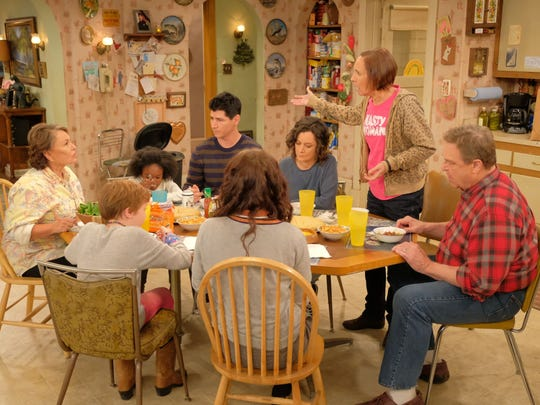 "The revival of ""Roseanne"" premiered on ABC on March 27."
