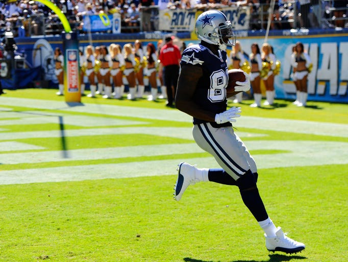 DEZ BRYANT: Cowboys wide receiver Dez Bryant has six touchdowns in his past four games and has reached the end zone 11 times in his past eight home games.