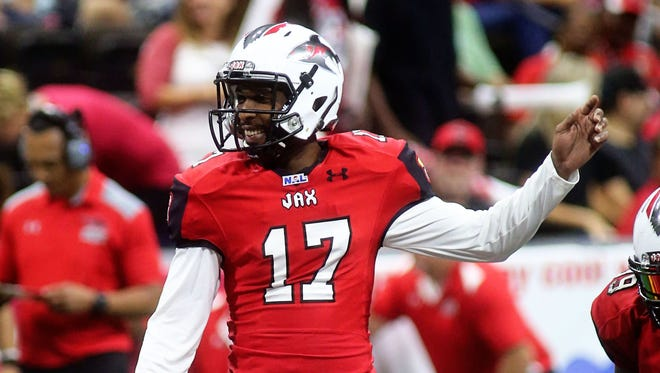 Damien Fleming has started six games this season for the Jacksonville Sharks of the National Arena League.