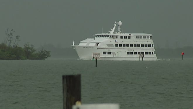 "The Big ""M"" Casino ship will not return to Fort Myers Beach."