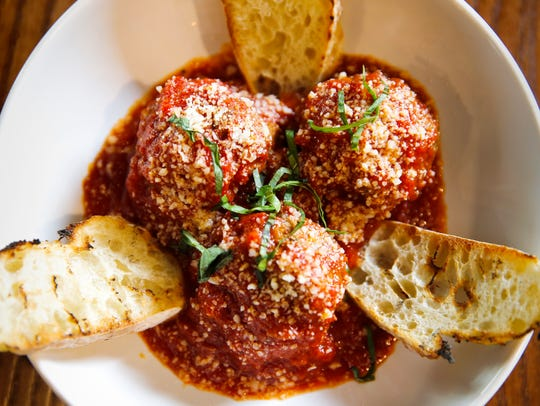 Thu., Oct. 12, 2017: House crafted meatballs, with