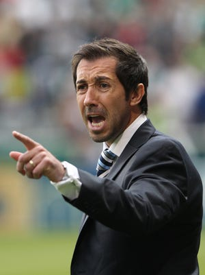 FILE -- Martin Rennie is the Indy Eleven coach. He coached the Vancouver Whitecaps  in 2012.
