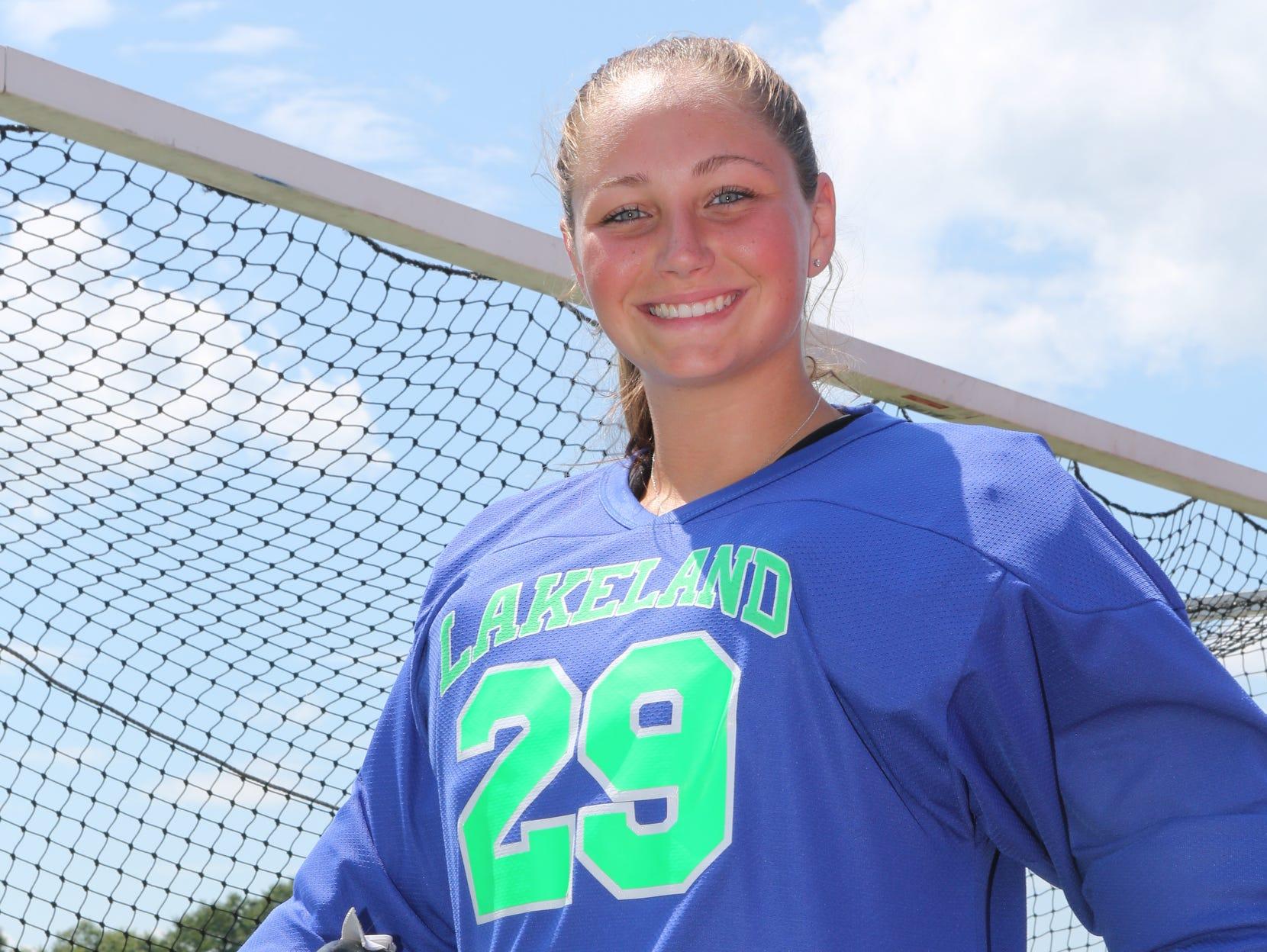 Former Lakeland field hockey goalie and U.S. Under-19 National team member Alex Halpin poses at the Putnam Valley High School July 21, 2015.