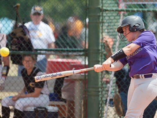 Prattville Christian's Carolyn Carter makes a hit during