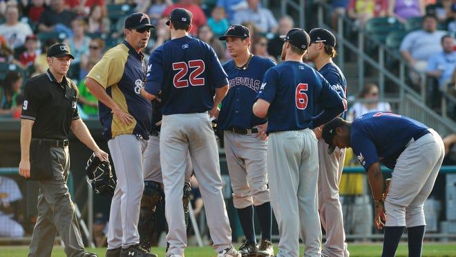 Montgomery Biscuits play Huntsville Stars at Riverwalk Stadium on Sunday, May 25, 2014.